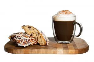 Latte and scone an example of Thrive Product Studio's lifestyle photography